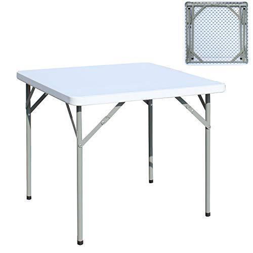soges Klapptisch Campingtisch Gartentisch faltbar aus Aluminium Keine Montage und leicht zu tragen,84 * 84 * 74 cm,HP-84F