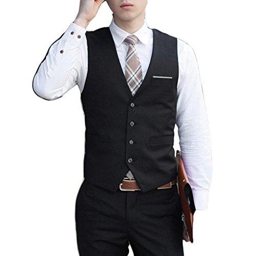 Laixing Qualität Men's Formal Dress Suit Tuxedo Waistcoat Coat Slim Business Suit Vests S-6XL (Formale Tuxedo Jacket)