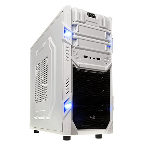 Aerocool GT White Edition Midi Tower - weiß, ohne Netzteil