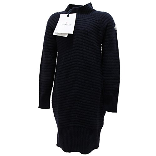 0210N DRESS maglione bimba blu MONCLER lana vestito jumpers kids [8 YEARS]