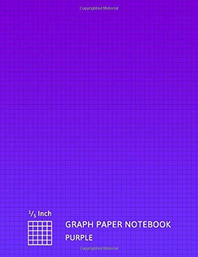 Graph Paper Notebook Purple: Grid Notebook Quad Ruled 1/5 Inch Squares | 5 Squares Per Inch (5x5) For Math & Science Students (8.5 X 11)