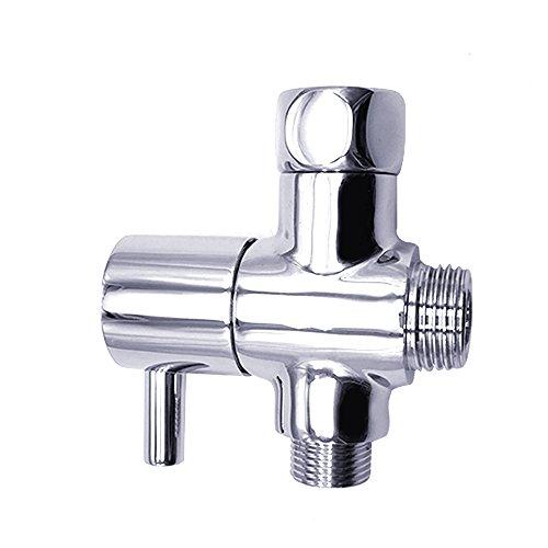 3-Wege-Dusche Arm Umstellventil–Universal massives Messing 3/20,3cm Zoll Badezimmer Dusche Flow Control Splitter Ersatzteil für Hand Held Duschkopf und feste Spray Head (chrom poliert) a Duschkopf-timer-abschaltung