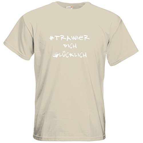 getshirts - Station B3.1 - T-Shirt - #trainierdichglücklich weiß Natural