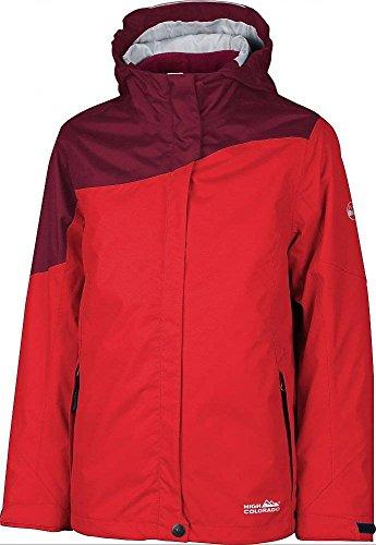 High Colorado Veste 2en 1pour femme fille veste d'extérieur Calgary fille rouge - red and dark red