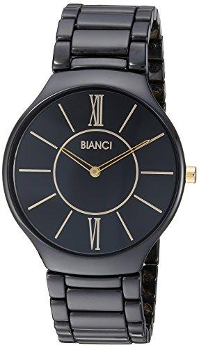 ROBERTO BIANCI WATCHES Women's 'Capri' Quartz Ceramic Casual Watch, Color:Black (Model: RB58780)