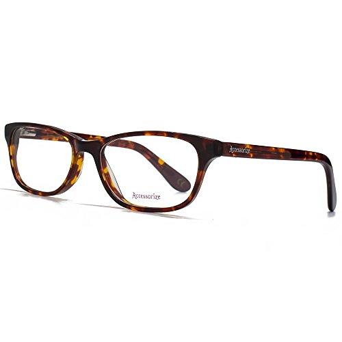 562c5f9ae65eab Accessorize Glam Rectangle lunettes en écaille ACS005-TRT 50 Clear