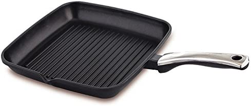 Prestige Die Cast Plus Grill Pan, 240 mm, Black