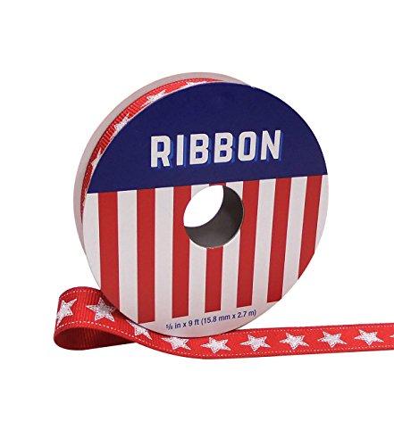 e mit Americana 1,6cm X 9'rot mit weiß Sterne ()