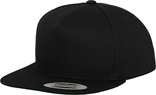 Flexfit Mütze Classic 5 Panel Snapback, black, one size, 6007-00007-0050