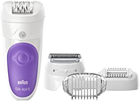 Braun Silk Epil 5-541 Women's Wet and Dry Cordless Epilator with Shaver Head Electric Hair Removal