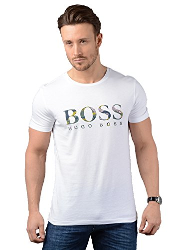 BOSS Casual Herren T-Shirt Weiß