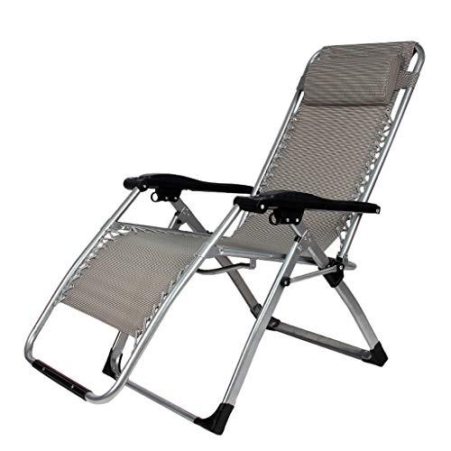 Chaise Longue Surdimensionné Rembourré Fauteuil Zero Gravity Patio Lounge Chair De Pont Pliant Inclinables Chaise RéGlable pour Camping Piscine Plage Recliner Patio ExtéRieur Prise en Charge 300lbs