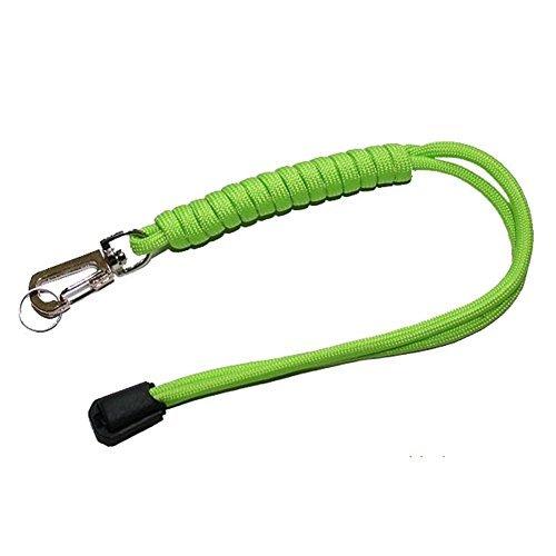 Waygo lavorato a mano corda paracord 7cores flashlight knife keychain lanyard-fluorescent verde