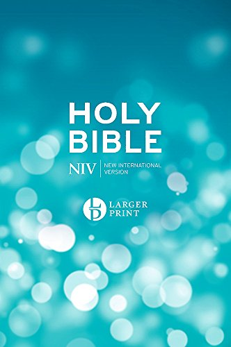 NIV Larger Print Blue Hardback Bible Blue Hardback