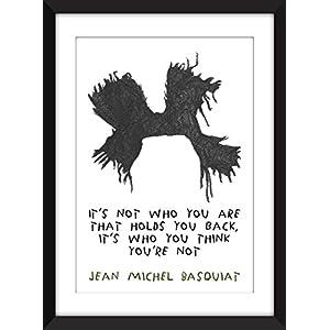Jean-Michel Basquiat 'Not Who You Are' Zitat - Ungerahmter Druck