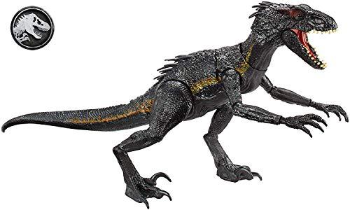 Jurassic World- Indoraptor Dinosauro Attacca e Ruggisci, Multicolore, FLY53