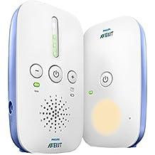 Philips Avent SCD501/00 - Vigilabebés DECT con luz nocturna, alcance de hasta 300 m, 5 luces LED como señal de sonido, ajuste el volumen como desee