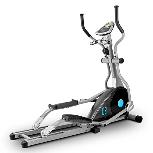 Capital Sports Cross Pro Cross-Trainer mit Ergometer/Trainingscomputer (26kg Schwungmasse, Pulsmesser, 8 Schwierigkeitsstufen, 10kg Schwungrad)