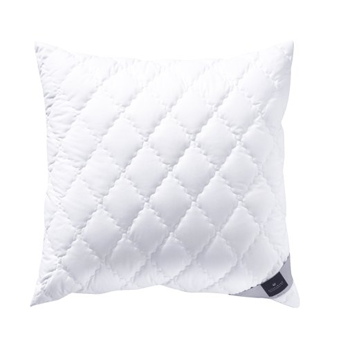 Billerbeck 2460990006 Faserkissen 520 Alcando, 80 / 80 cm weiß (Polyester Kopfkissen)