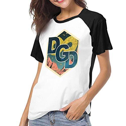 Bagew Damen T-Shirt Mit Rundhalsausschnitt, Womens Raglan Baseball T-Shirt Dance Gavin Dance Printed Crew Neck Casual Tee Tops