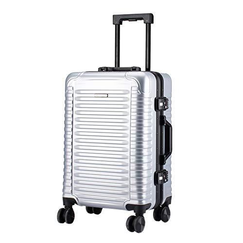 Xiuluo Koffer Gepäckbox Mode horizontale Streifen 20-Zoll Trolley Fall Universal Rad Reise Kofferkoffer,E,20inch -