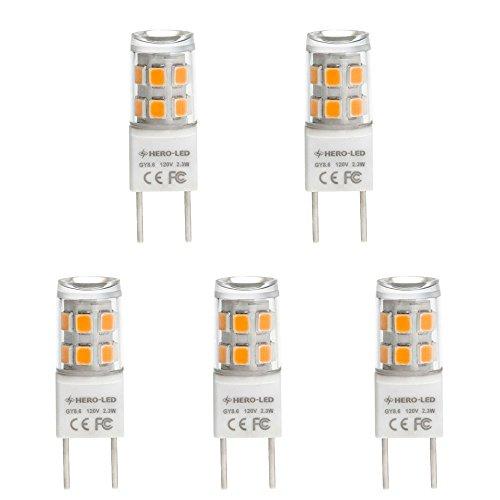 Moderne Task-lampe (hero-led T4g8.6/GY8.6Boden-Sockelung Xenon RHX JCD Typ LED Halogen Ersatz Glühbirne, staubdicht Schutz ip62,230Lumen, entspricht 20W, 5er Pack (nicht dimmbar) Modern Warmweiß (2.700 K))