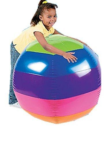 48 INFLATABLE BEACH BALL - RAINBOW GIANT BALL by Kids Authority (Rainbow Beach Ball)