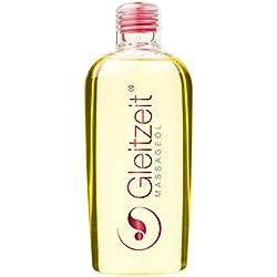 Gleitzeit Massageöl PREMIUM 200 ml bei Schwangerschaftsstreifen Dehnungsstreifen zur Narbenpflege Dammmassage und Partnermassage