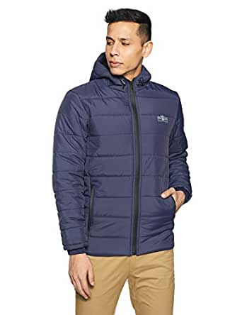 Qube By Fort Collins Men's Quilted Jacket (430182 SMU_Navy_M)