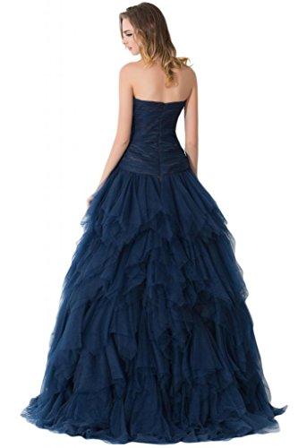 Sunvary-blu-Cinghia per Spaghetti Prom Tulle Pageant abiti da sera Gowns Green