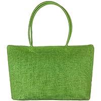 Borsa Familizo Elegant Semplice colore della caramella grandi Straw Beach Bags donne sacchetto di spalla casuale