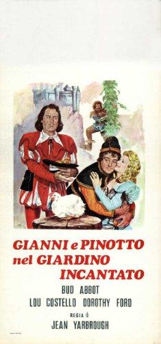 Jack and the Beanstalk Poster Movie Italian 13 x 28 In - 34cm x 72cm Bud Abbott Lou Costello Buddy Baer Dorothy Ford Barbara Brown William Farnum