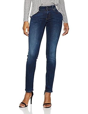 G-STAR RAW Damen Jeans 3301 Deconst Mid Straight Blau (Dk Aged 89), W27/L32
