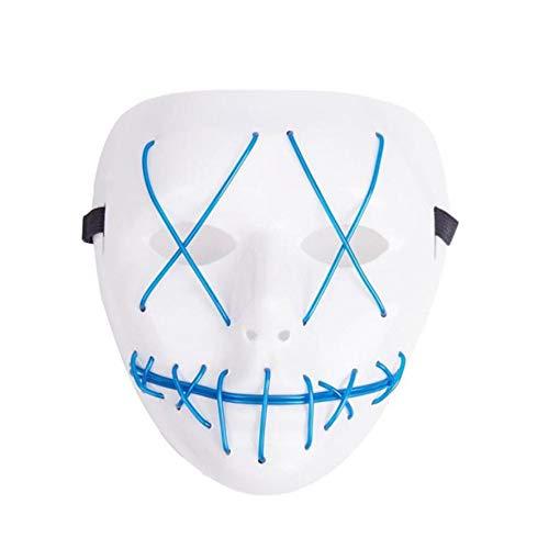 tobbrt Festival Halloween Kostüm LED MaskeNew Halloween Horror Maske Halloween Zubehör, C