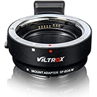 VILTROX EF-EOS M Adaptador de Lente de Enfoque automático para Canon EF/EF-S Lente para Canon EF-M Montaje Cámara de EOS-M M3 M5 M6 M10 M50 M100
