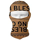 I Am Blessed Coming in and Going Out Winter Tactical Full Face Mask UV Protection Neck Cover Hood for Men and Women