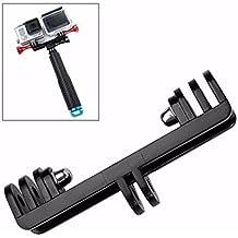 Shoot® Doble Dual deportes cámara plana doppelhalterung kamerahalterung mando Monopié Mount Adaptador para GoPro Hero 54/3+/3/1.2SJCAM con tornillos