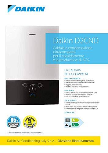 Daikin D2CND 28KW Caldaia a condensazione ultracompatta per il riscaldamento e la produzione di ACS