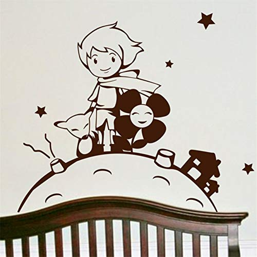zhuziji Applique Vinyl Baby Boy Kindergarten Cartoon Kinderzimmer Dekoration Kunst Dekor Home Decor Abnehmbare Cartoon Wand lila 58 X 49 cm