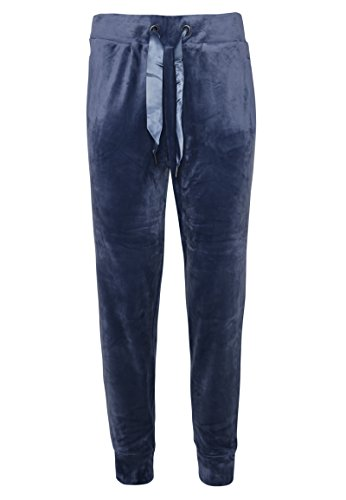 EIGHT2NINE Damen Nicki Hose | Bequeme Freizeithose in Blau, Rot, Grau & Schwarz dark-blue XL (Hose Velour Blau)