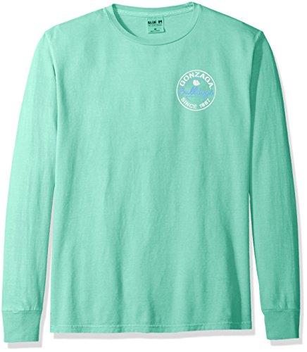 Blue 84 NCAA Gonzaga Bulldoggen-T-Shirt für Erwachsene, NCAA, gefärbt, ringgesponnen, modisch, Größe S, Seafoam - Bulldogge T-shirt Tee