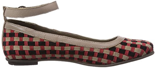 Fly London FERD, Ballerine donna Multicolore (Mehrfarbig (Red/Lt. Grey/Black (Lt.Grey) 001))