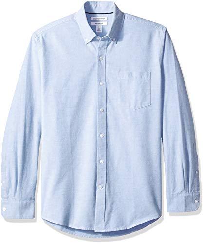 Amazon Essentials - Camisa Oxford lisa manga larga