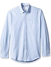 Amazon Essentials Regular-Fit Long-Sleeve Solid Pocket Oxford