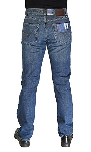Pierre Cardin DEAUVILLE - Nr. 3196 - Regular Fit Herren Stretch Jeans - Jeans-Manufaktur Edition dark indigo strong used (3196 7170.37)