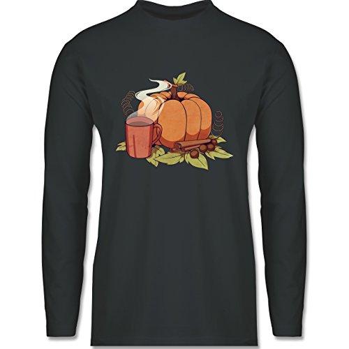 Shirtracer Statement Shirts - Pumpkin Spice - Herren Langarmshirt Dunkelgrau