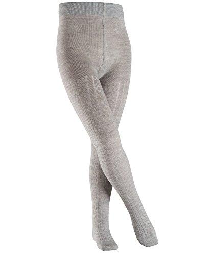 FALKE Kinder Strumpfhosen Cable, Schurwolle/Baumwollmischung, 1 Stück, Grau (Light Grey 3770), Größe: 134-146