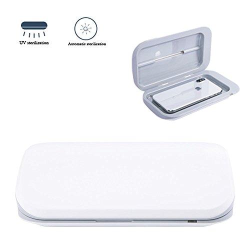 CLDGF Handy-Sterilisator UV-Desinfektion Multi-Funktions-USB-Lade Automatische Sterilisation Desinfektion Unterwäsche Schmuck Geschenk Desinfektion Box,White -