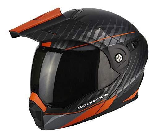 Scorpion ADX-1 Dual Enduro Klapphelm XXL (62/63) Schwarz Matt/Orange