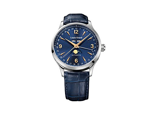 Louis Erard 1931 Automatic Watch, 42 mm, Blue, Moon Phase, 31218AA15.BDC37